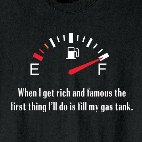 When I Get Rich And Famous Gas Tank Shirts