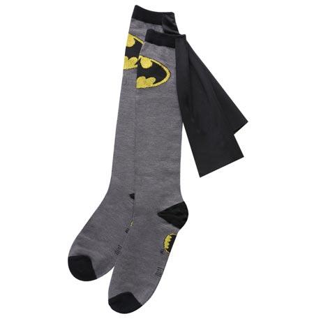 Superhero Knee-High Cape Socks - Batman
