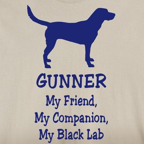 Personalized My Friend, My Companion Shirt - Black Lab