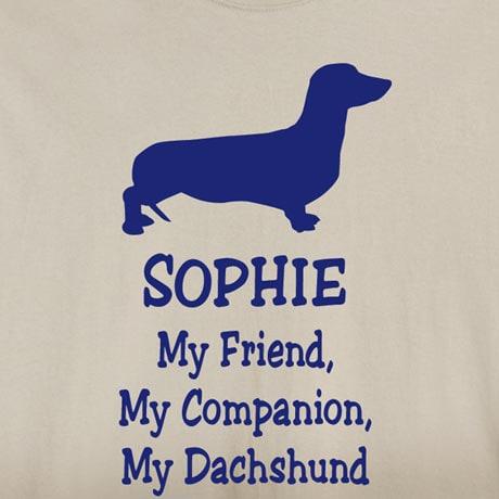 Personalized My Friend, My Companion Shirt - Dachshund