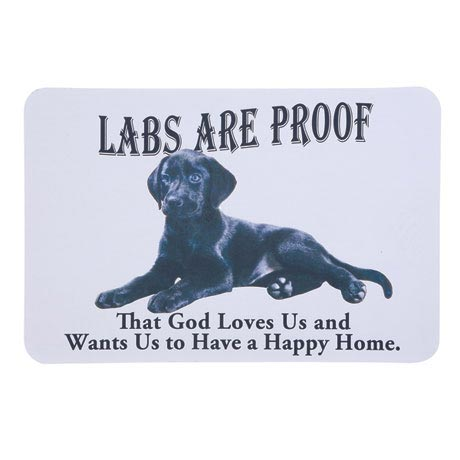 Dog Breed Doormat - Black Lab