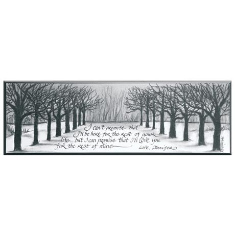 Personalized I Can't Promise Plaque