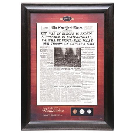 Personalized New York Times Framed Commemorative
