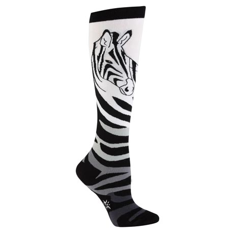 Wildlife Knee-Highs - Zebra