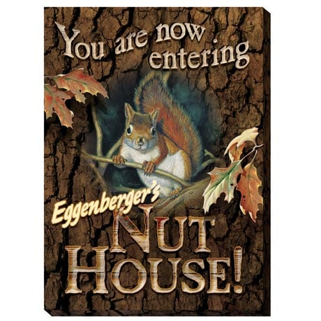 Personalized Nut House Canvas