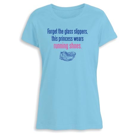 This Princess Wears Running Shoes Ladies T-Shirt