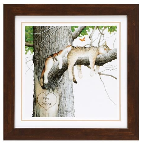 Personalized Napping Cats Print
