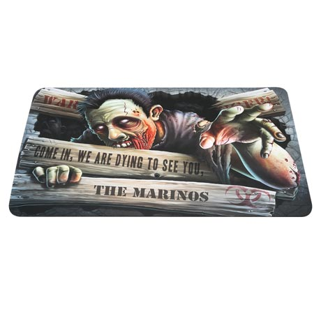 Personalized Zombie Doormat