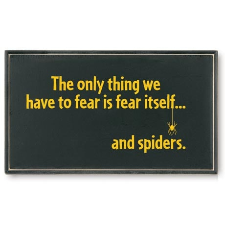 The Only Thing To Fear… Plaque