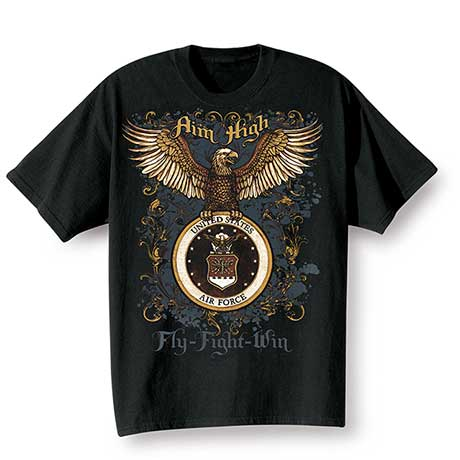 Golden Eagle Military T-Shirts - Air Force