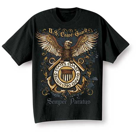 Golden Eagle Military T-Shirts - Coast Guard