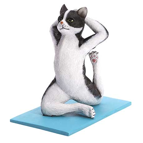 Yoga Cats- Black And White
