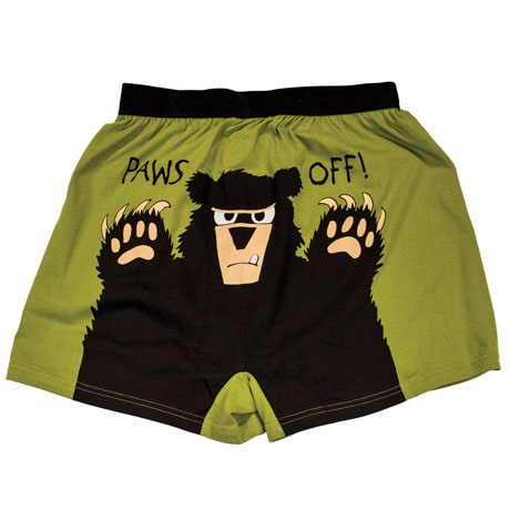 Paws Off Funny Boxers in Cotton with Elastic Waist