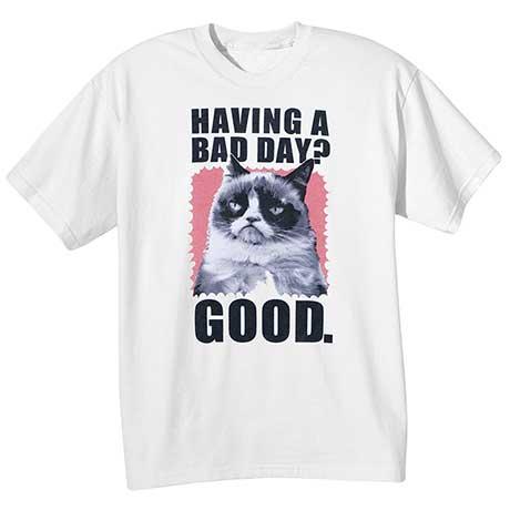 Grumpy Cat Tees- Bad Day