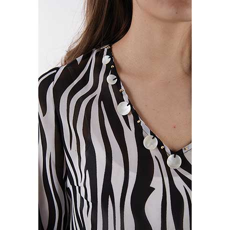 Animal Print Tunic/Cover Up Zebra