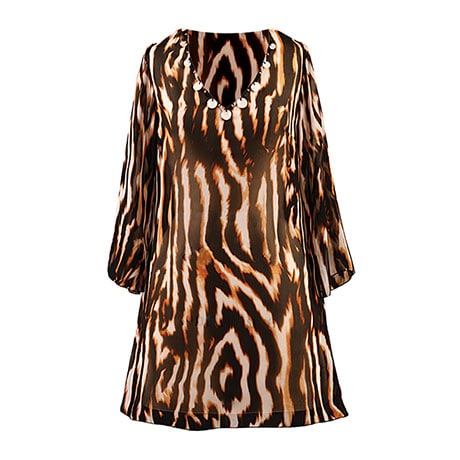 Animal Print Tunic/Cover Up Tiger