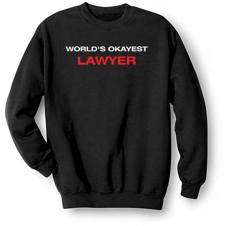 Personalized World's Okayest Sweatshirt