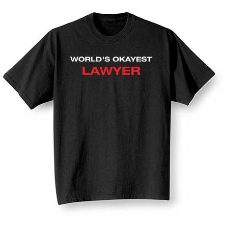Personalized World's Okayest T-Shirt
