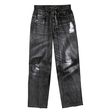 Jeans Lounge Pants - Faux Denim in 100% Cotton