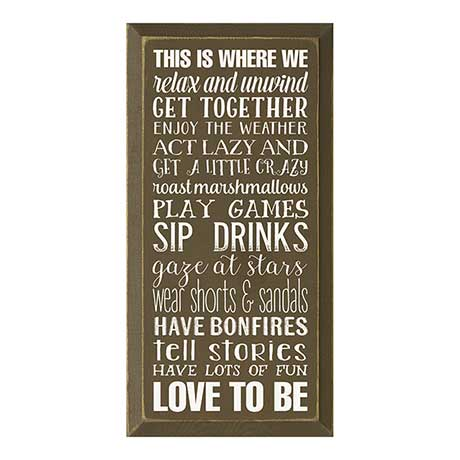 Relax & Unwind Wall Plaque