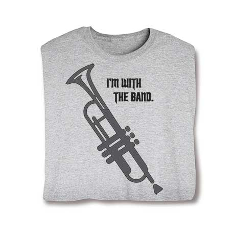 I'm With The Band Long Sleeve T-Shirt- Trumpet