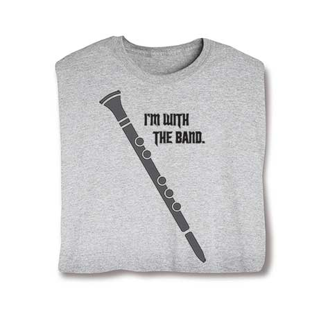I'm With The Band Ladies T-Shirt- Clarinet