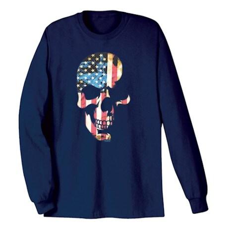 Americana Skull Long Sleeve T-Shirt