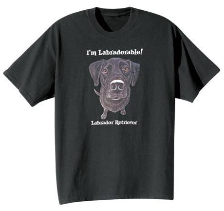 Dog Breed Tee- Black Labrador