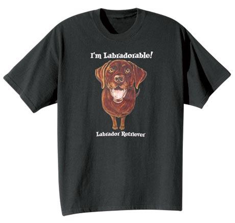 Dog Breed Tee- Chocolate Labrador