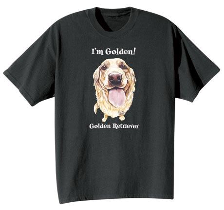 Dog Breed Tee- Golden Retriever