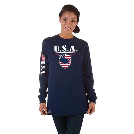 International Long Sleeve T-Shirt- Usa
