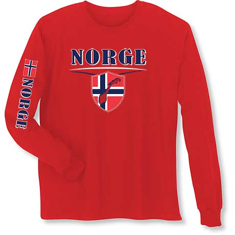 International Long Sleeve T-Shirt- Norge (Norway)