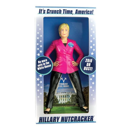Hillary Clinton Nutcracker Stainless-Steel Thighs