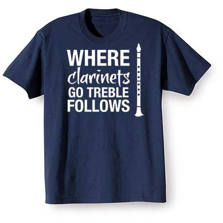 Music Instruction T-Shirt- Clarinets