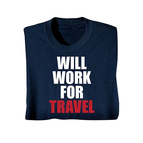 "Personalized Will Work For ""Travel"" Shirts"