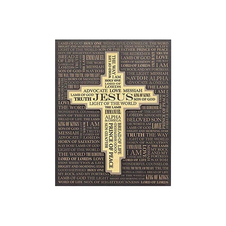 Names Of Christ 3D Wooden Wall Plaque