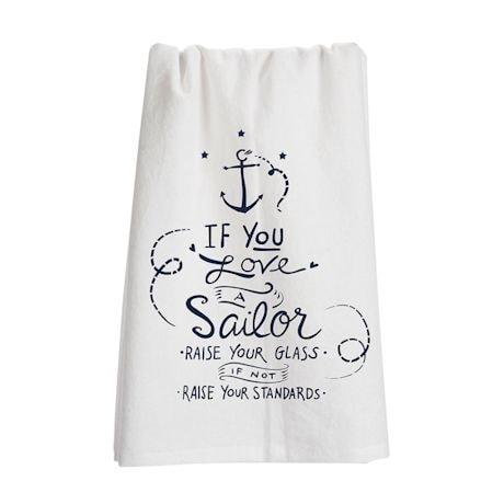 Military Flour Sack Kitchen Towel- Sailor (Navy)