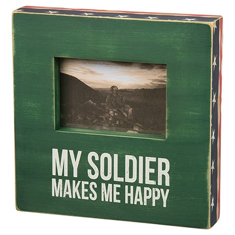 Wooden Military Frames- Soldier (Army)
