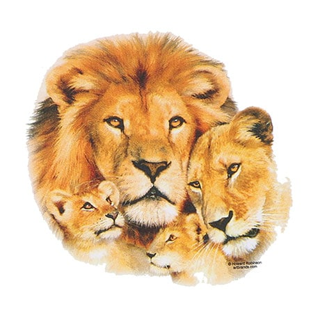 Mommy And Babies Lion Ladies Hoodie