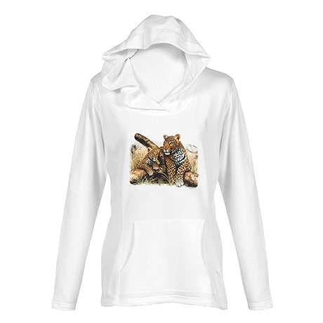 Mommy And Babies Leopard Ladies Hoodie