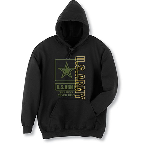 Military Army Hooded Sweatshirt