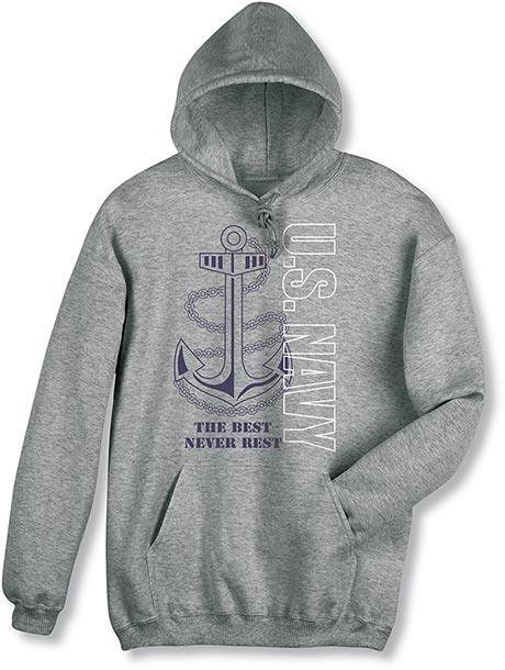 Military Navy Hooded Sweatshirt