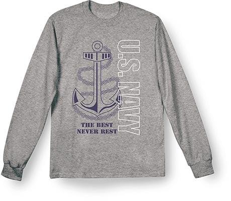 Military Navy Long Sleeve T-Shirt
