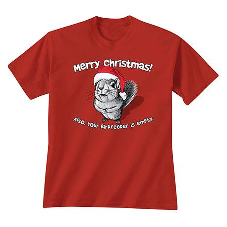 Merry Christmas Squirrel T-Shirt