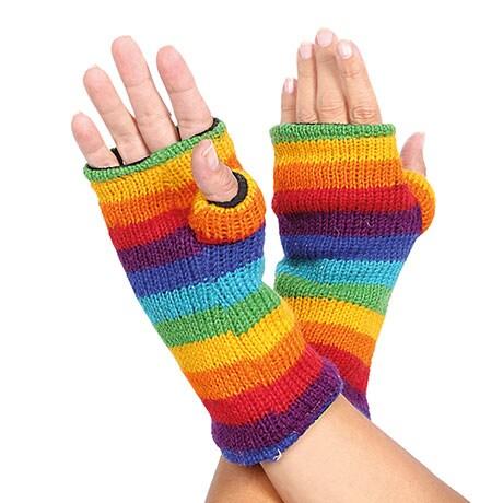 Color Spectrum Knit Wool Hand Warmies