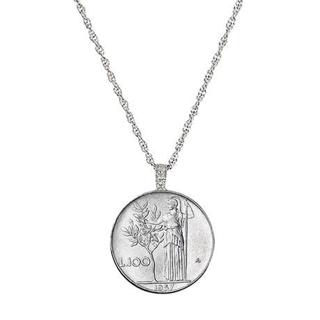 Italian Lire Coin Pendant