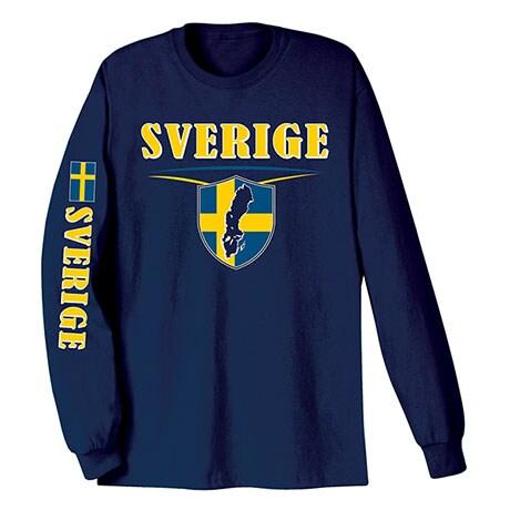 International Long Sleeve T-shirts- Sverige (Sweden)