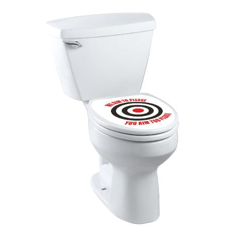 We Aim To Please So Please Aim Bullseye Toilet Tattoo
