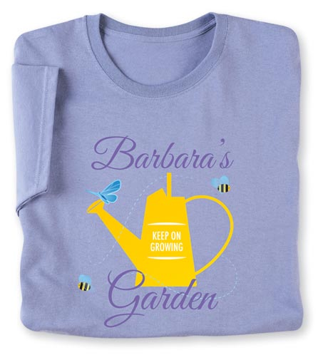 """Personalized """"Your Name"""" Garden Lover Shirt"""