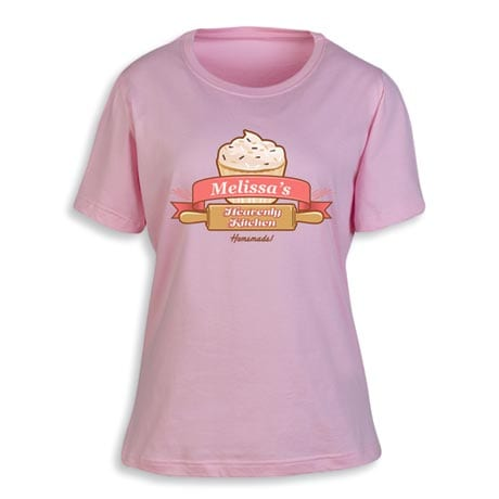 """Personalized """"Your Name"""" Heavenly Kitchen Home Baker Shirt"""